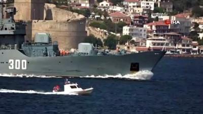 sahil guvenlik -  Rus Donanması'na ait eğitim gemisi Çanakkale Boğazı'ndan geçti
