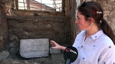 bulduk -  700 yıllık hamamın restorasyonunda bulunan 'Kitabe' tarihe ışık tutacak Videosu