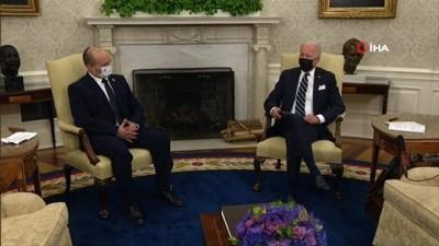 """teror saldirisi -  - Biden: """"İsrailliler ve Filistinliler için barışı ve güvenliği geliştirmenin yollarını da tartışacağız"""" - Biden, İsrail Başbakanı Bennett ile görüştü Videosu"""
