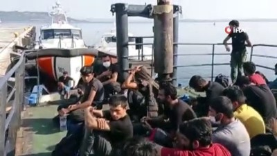 operasyon -  Çanakkale açıklarında 204 düzensiz göçmen yakalandı