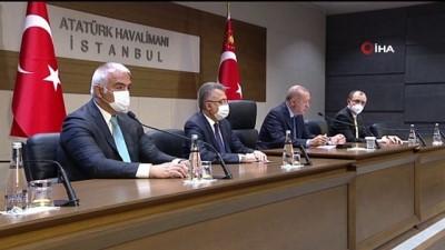 """Cumhurbaşkanı Erdoğan: """"Dün Kabil'de gerçekleştirilen o felaketi milletçe kınıyoruz, Afganistan'da güvenliğin ne kadar öncelikli olduğu ortaya çıkmıştır"""""""