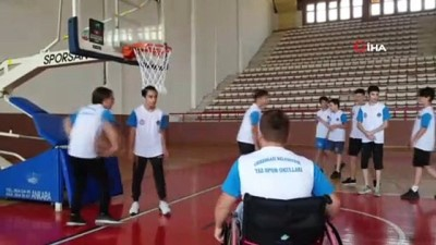 Engelli gencin basketbol hayali gerçek oldu