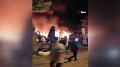 Kafede başlayıp, restorana sıçrayan yangın güçlükle söndürüldü
