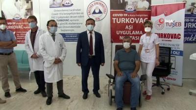 asi -  Yerli korona virüs aşısı TURKOVAC, geliştirildiği ERÜ'de gönüllülere uygulanıyor