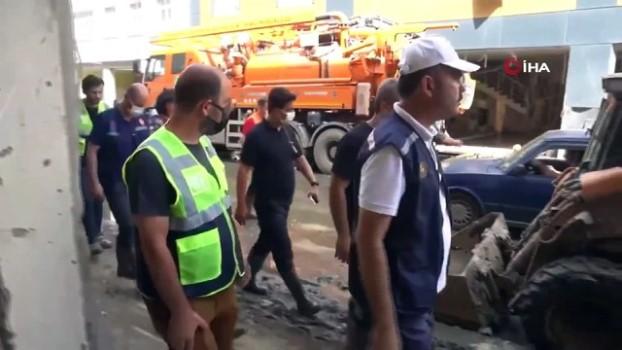 kanalizasyon -  Bakan Kurum afet bölgesinde incelemelerde bulundu