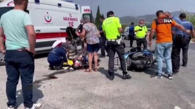 motosiklet surucusu -  İznik'te meydana gelen trafik kazasında 1'i ağır 2 kişi yaralandı