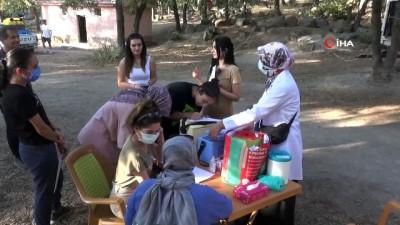 asi -  Kamptaki öğrenciler dağda aşılarını yaptırdı