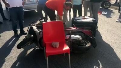 motosiklet surucusu -  Motosiklet ile otomobil çarpıştı: 1 yaralı