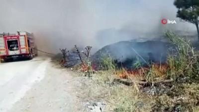 yangin -  Balıkesir'de moloz yangını