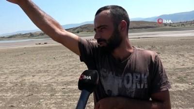 kuraklik -  Suların çekildiği baraj yürüyüş alanına döndü Videosu