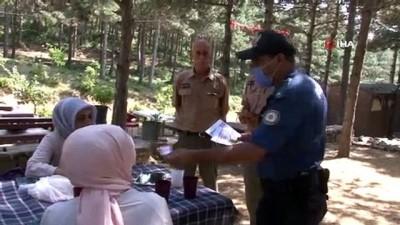 cevik kuvvet -  Aydos Ormanı'nda yangın ihtimaline karşı drone destekli denetim