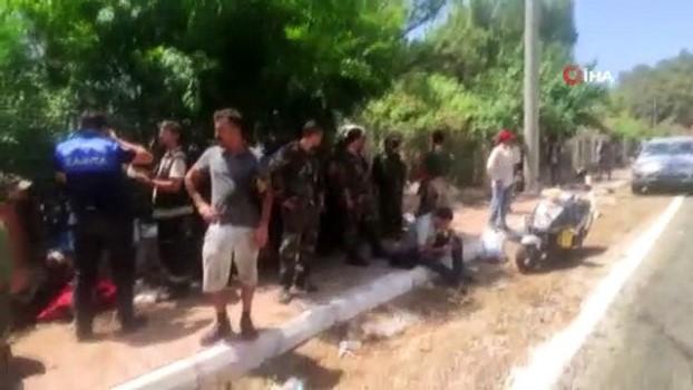 guzergah -  Azerbeycandan gelen itfaiyeciler Hisarönü Orhaniye yolunaki çalışmalara katılıyor