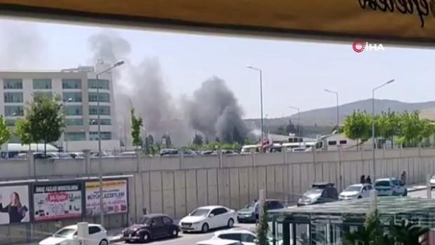 osmanpasa -  Hastane yakınındaki bahçe yangını korkuttu