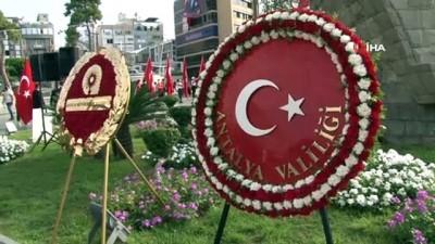 istiklal -  30 Ağustos Zafer Bayramı çelenk ve geçit töreniyle başladı Videosu