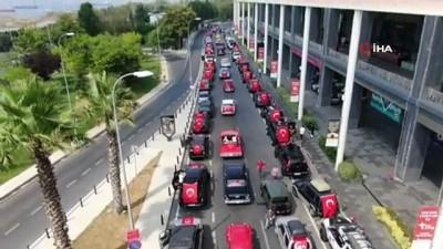bayram coskusu -  30 Ağustos Zafer Bayramı'nda 99 klasik araçla konvoy şöleni