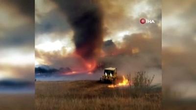 orman yanginlari -  - ABD'deki orman yangınında alev hortumu oluştu