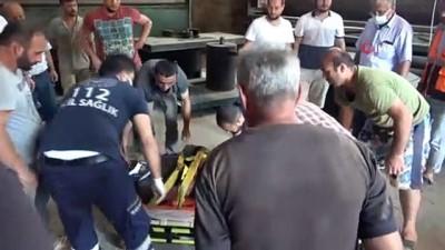 fabrika -  Ayancık'ta tamirat yapan işçi fabrikanın çatısından düştü