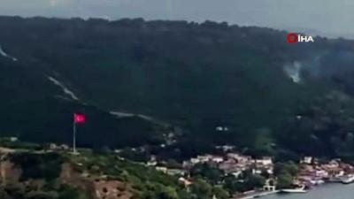 Beykoz Anadolu Kavağı'nda orman yangını