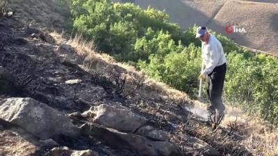 Bitlis'teki örtü yangını ormanlık alana sıçramadan kontrol altına alındı