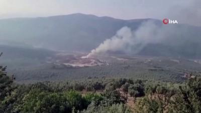 yangin -  Bursa'da dolgu alanınki yangın büyümeden söndürüldü