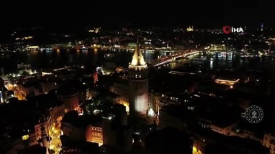 iletisim -  Galata Kulesi'nde 30 Ağustos Zafer Bayramı'nda özel ışık gösterisi Videosu