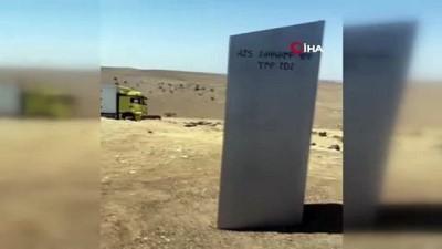 Gizemli monolit Diyarbakır'da ortaya çıktı
