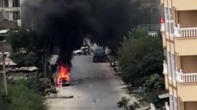 - Kabil'de roket fırlatılan araç alev aldı