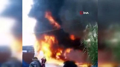 fabrika -  Plastik kasa fabrikasında korkutan yangın
