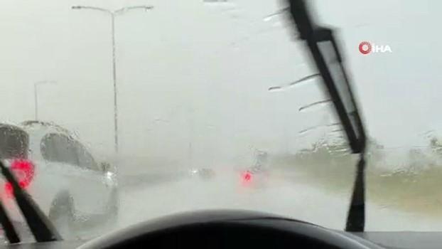 siddetli yagis -  Tekirdağ'da şiddetli yağış hayatı felç etti