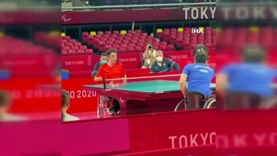 masa tenisi - Tokyo'da ilk altın madalya Abdullah Öztürk'ten
