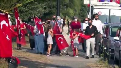 saygi durusu -  Tuzla'da 30 Ağustos Zafer Bayramı dolayısıyla çelenk sunma töreni düzenlendi