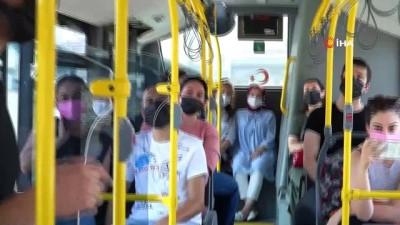 Yolcular önce şaşırdı, sonra alkışladı