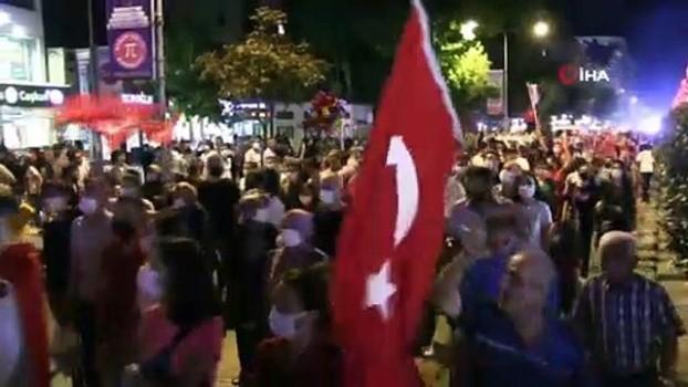 havai fisek -  Niğde'de Zafer Bayramı'nda fener alayı yürüyüşü düzenlendi