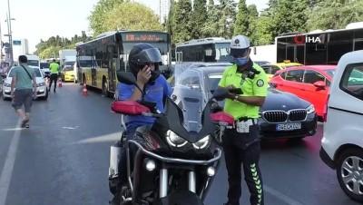 motosiklet surucusu -  - Mecidiyeköy'de motosiklet denetimi Videosu