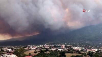 yuksek gerilim -  Akçaova yangınında 4 mahalle tehdit altında
