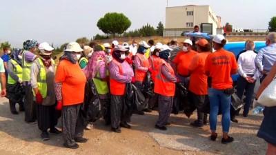 sahil guvenlik -  Aliağa'da orman temizliği devam ediyor