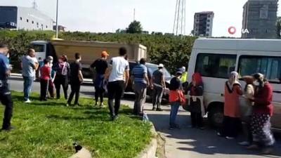 112 acil servis -  Fındık işçilerini taşıyan minibüs kaza yaptı: 2 yaralı
