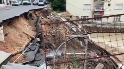 istinat duvari -  Başkent'te bir inşaatın istinat duvarı çöktü