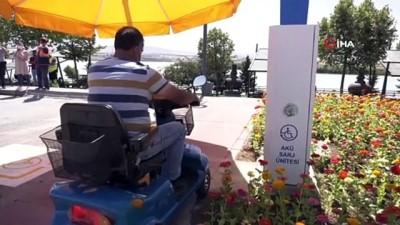 golgeli -  Başkentte engelli vatandaşlar için 28 parka şarj istasyonu