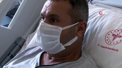 """yan etki -  15 gündür korona virüs tedavisi gören adam hasta yatağından seslendi: """"Keşke aşı olsaydım"""""""