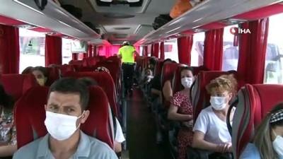 emniyet kemeri -  15 Temmuz Demokrasi Otogarı'nda otobüs denetimi