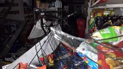 kahvehane -  Araçla çarpışan halk otobüsü markete çarptı: 5'i markette 8 kişi yaralandı