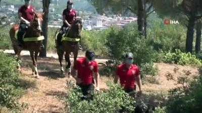 atli polis -  Atlı polisler Çavuşbaşı Ormanı'nda denetim yaptı