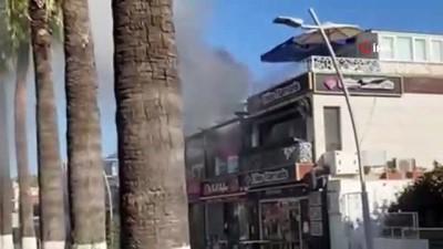 yangin panigi -  Kafede yangın paniği